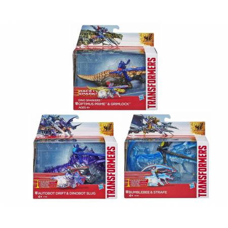 Transformers : Lot de 3 Figurines Optimus Prime, Bumblebee et Autobots Drift