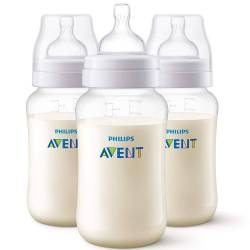 Lot de 3 biberons Philips Avent Anti-Colic 330 ml - 3 mois+