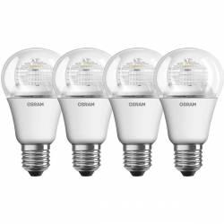Osram - Lot de 4 Ampoules LED Superstar E27 6W Blanc