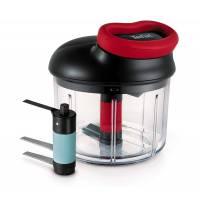 Tefal K0981314 Mini Hachoir + 2nd lame glace ustensile de cuisine à système rotatif breveté
