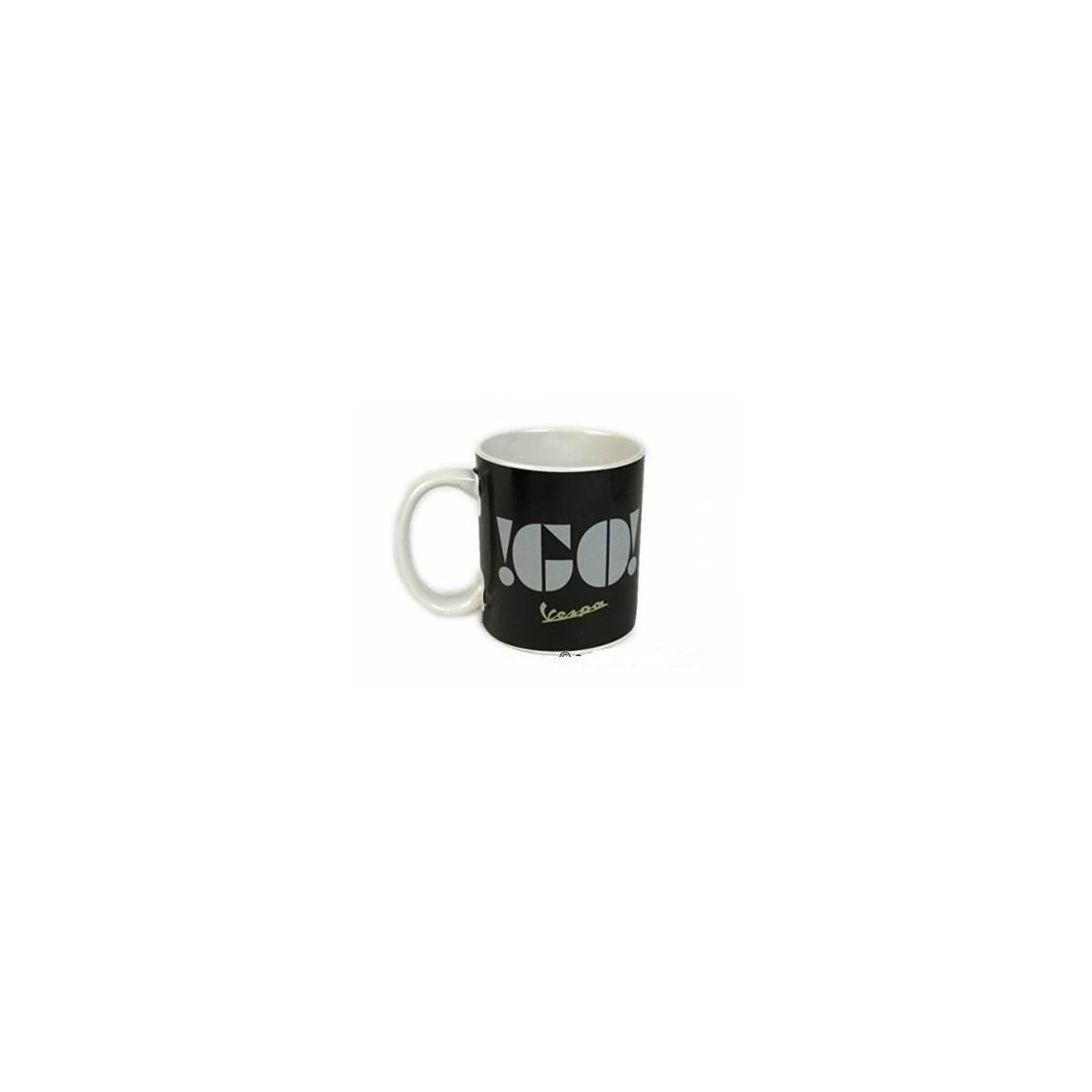 Vespa - Mug en Céramique Go Vespa - Noir