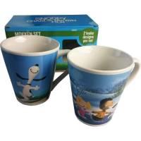 Snoopy Peanuts Lot de 2 Tasses