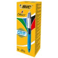 Lot Revendeur de 12 Stylo BIC 4 Couleurs Grip