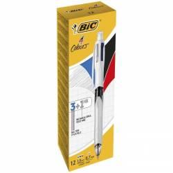 BIC - Stylo 4 Couleurs Multifonction - Blanc et Gris
