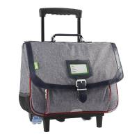 Cartable Tann's Roulettes 38 cm Chiné Light