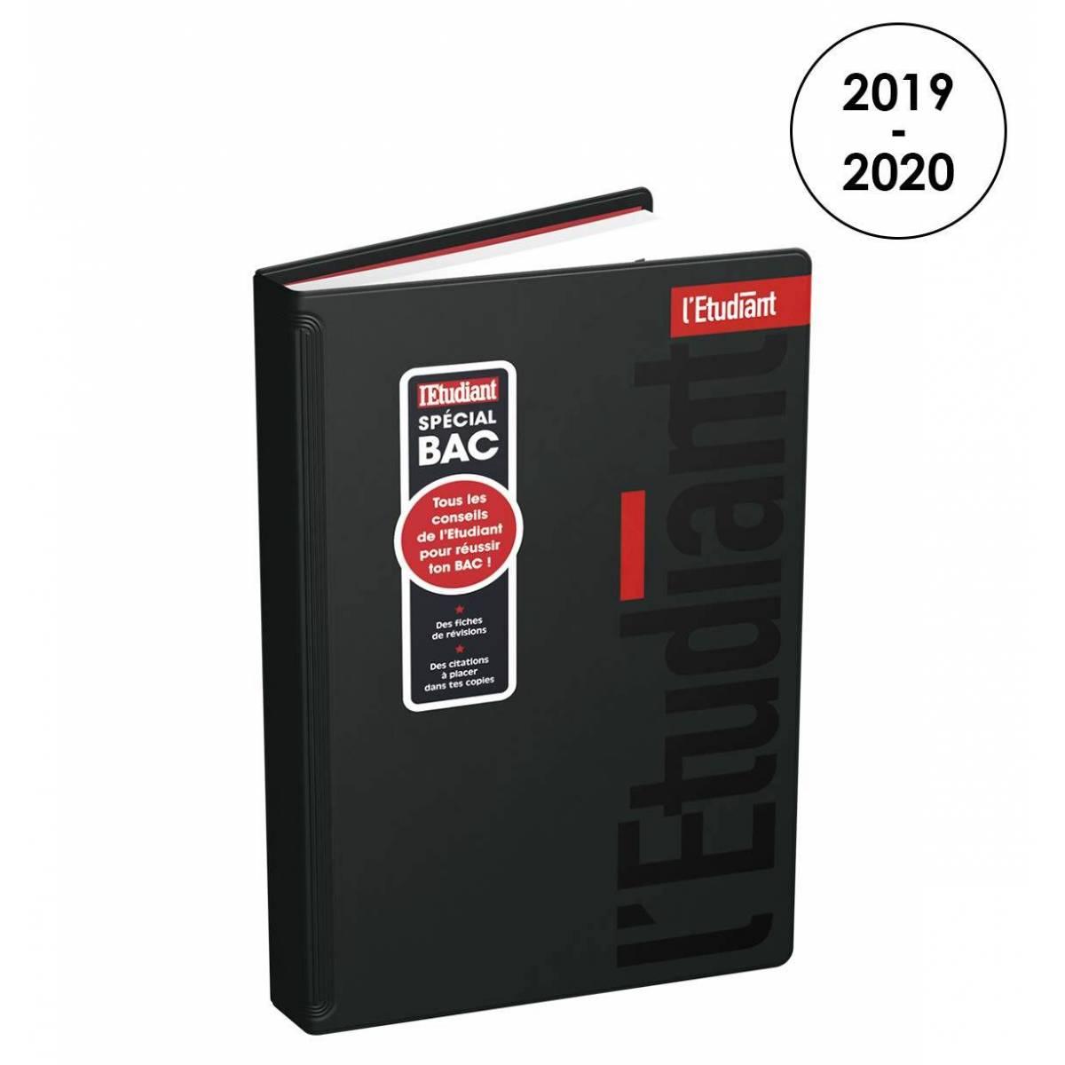 Agenda L'Etudiant Noir Spécial Bac 2019/2020