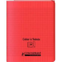 Cahier Conquerant Classique à Rabats Rouge 17 x 22 cm 96p Seyès