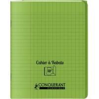 Cahier Conquerant Classique à Rabats Vert 17 x 22 cm 96p Seyès
