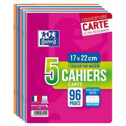 Lot de 5 Cahiers Oxford Color Life 17 x 22 cm 96p Seyès