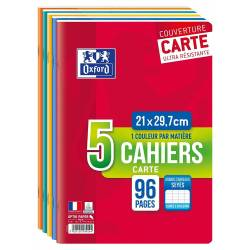 Lot de 5 Cahiers Oxford Color Life A4 96p Seyès