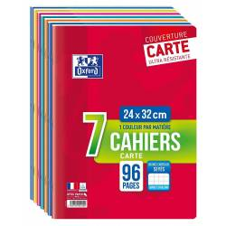 Lot de 7 Cahiers Oxford Color Life 24 x 32 cm 96p Seyès