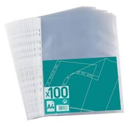 Pochette Plastique Perforée A4 Polypro Grainé - Elba