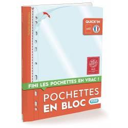 Pochettes Plastique Perforées en Bloc A4 Polypro Lisse x60 - Elba