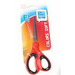 Safe Tool - Ciseaux Acier Colors Soft Rouge - 15 cm