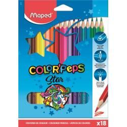 Crayons de Couleur Maped Color'peps Star x18