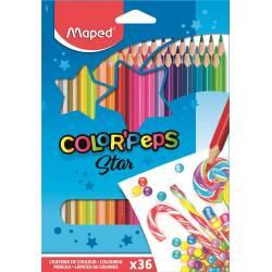 Crayons de Couleur Maped Color'peps Star x36
