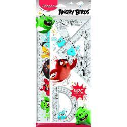 Kit de Traçage Maped Angry Birds 4 Pièces