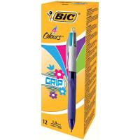 Stylo 4 Couleurs Bic Grip Fun Violet