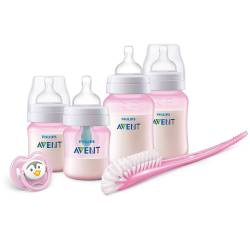 Kit Biberons Avent Anti-Colic Rose - 0m+