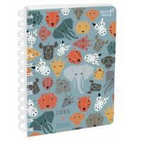 Cahier de Textes Animascot Spirales Safari - 17 x 22 cm