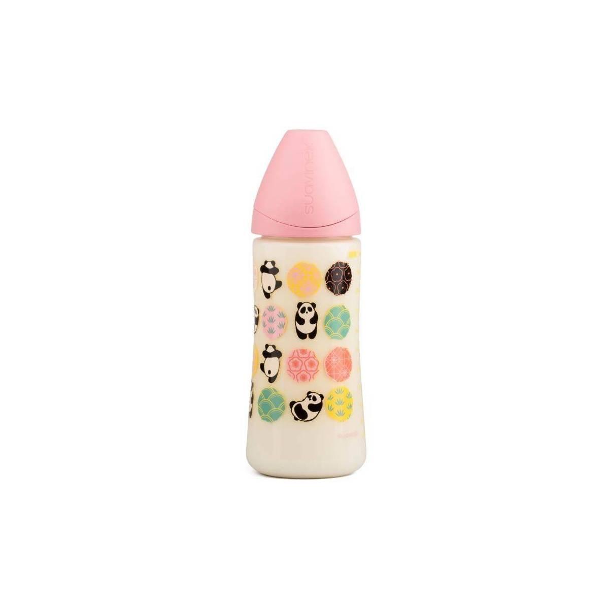 Biberon Suavinex 360 ml Silicone Physio Panda - Rose