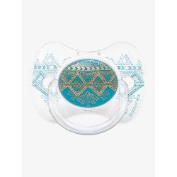 Sucette Suavinex Couture Ethnic 18 mois + - Turquoise