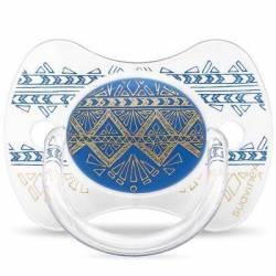 Sucette Suavinex Couture Ethnic 18 mois + - Bleu Foncé