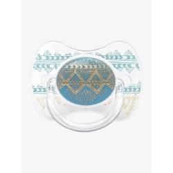 Sucette Suavinex Couture Ethnic 4/18 mois - Turquoise
