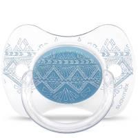 Sucette Suavinex Couture Ethnic 4/18 mois - Bleu Foncé
