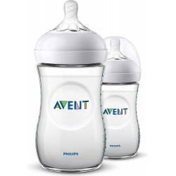 Biberon Avent Natural PP 260 ml x2
