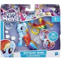 Figurine Little Pony Rainbow Dash + Parure et Accessoires