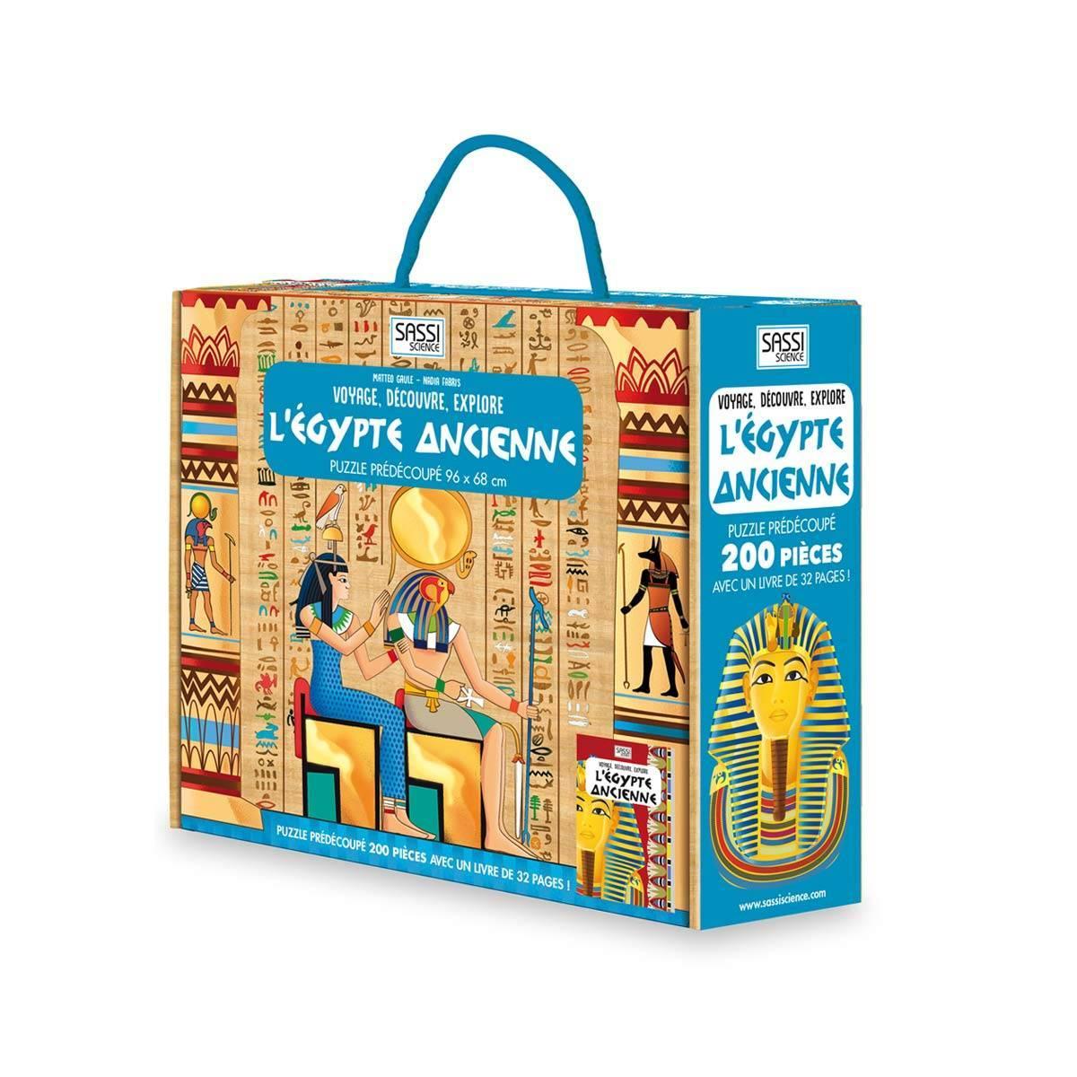 Livre et Puzzle L'Egypte Ancienne