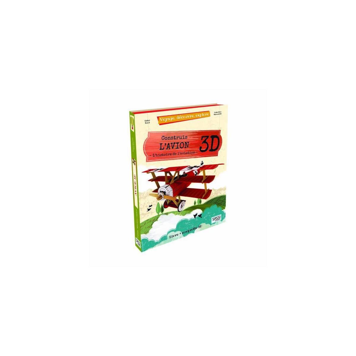 Livre + Maquette 3D Construis L'Avion - Sassi Science
