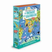 Livre et Puzzle Le Monde des Animaux