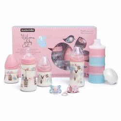 Coffret Biberons Suavinex Welcome Baby - Rose