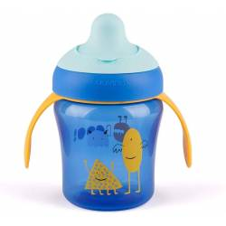 Tasse d'Apprentissage Suavinex Booo 200 ml Bleu - +6 Mois
