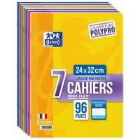 OXFORD OpenFlex Lot de 7 Cahiers 24x32 96 p Seyès Couleurs Assorties