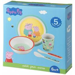 Coffret Repas Peppa Pig - 5 Pièces
