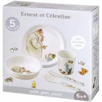 Coffret Repas Ernest et Célestine - 5 Pièces