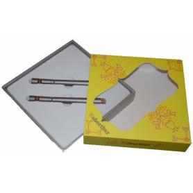 Oberthur Parure Stylo plume + Roller - Indian Bazar - gris
