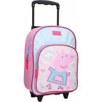 Sac à Dos à Roulettes Peppa Pig Roll With Me Rose - 38 cm
