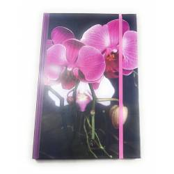 Carnet de Notes Orchidées - 22 x 15 cm