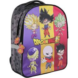 Sac à dos Dragon Ball Super 2 Compartiments Gris - 40 cm