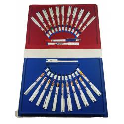 PARIS STOCK Coffret Collector Stylo Equipe de France de Football pour la Coupe du Monde 98 - Zidane, Deschamps