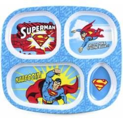 Assiette Compartiments Superman