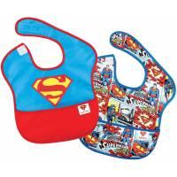 Bavoir avec Poche Superman x2