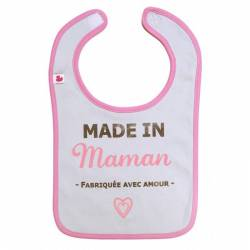 """Bavoir """"Made in maman"""" BB&Co - Fille"""