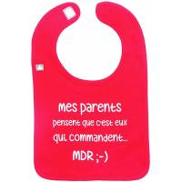 "Bavoir ""Mes parents qui commandent"" BB&Co"