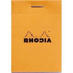 Bloc Rhodia N°10 Orange Petits Carreaux - 80 Feuillets