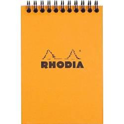 Bloc Rhodia Spirale N°13 Orange Petits Carreaux - 80 Feuillets